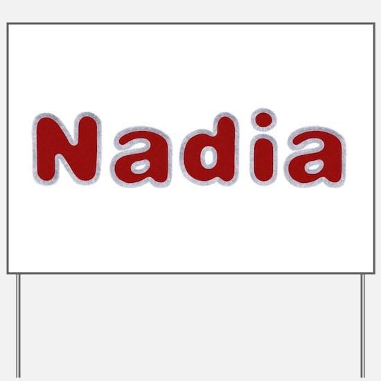 Nadia Santa Fur Yard Sign