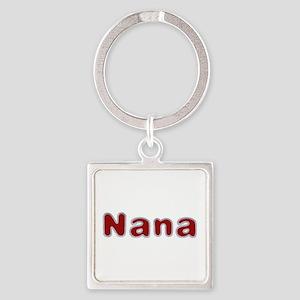 Nana Santa Fur Square Keychain
