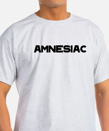 Amnesiac black text T-Shirt
