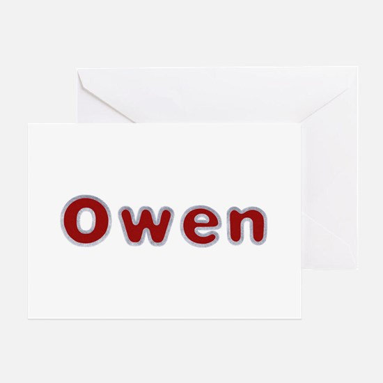 Owen Santa Fur Greeting Card