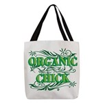 Organic Chick Polyester Tote Bag