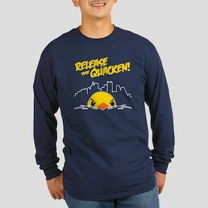 Release The Quacken Long Sleeve Dark T-Shirt