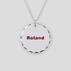 Roland Santa Fur Necklace Circle Charm