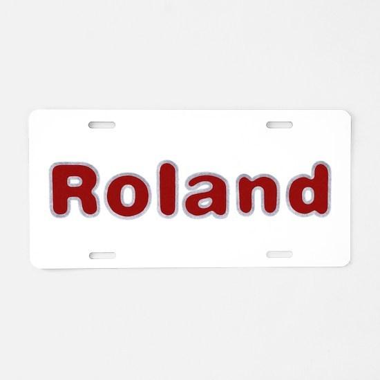 Roland Santa Fur Aluminum License Plate