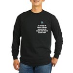 Where Begin and End Long Sleeve Dark T-Shirt