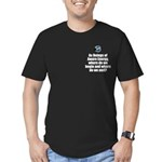 Where Begin and End Men's Fitted T-Shirt (dark)