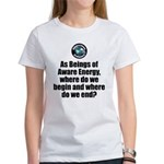 Where Begin and End Women's Classic White T-Shirt