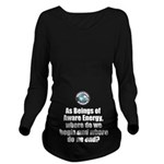 Where Begin and End Long Sleeve Maternity T-Shirt