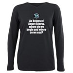 Where Begin and End Plus Size Long Sleeve Tee