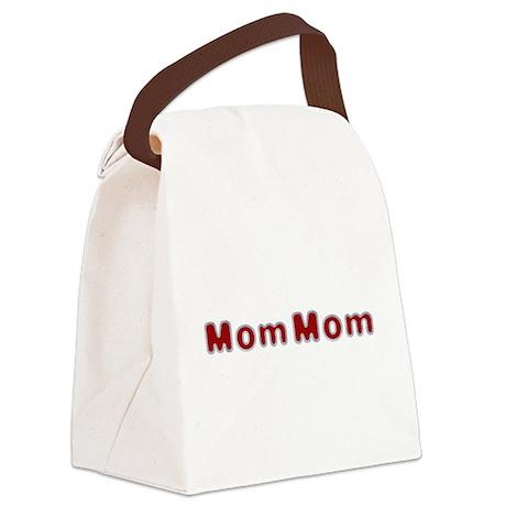 MomMom Santa Fur Canvas Lunch Bag