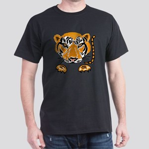 Leaping Tiger Art Dark T-Shirt