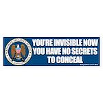NSA Invisible Bumper Sticker