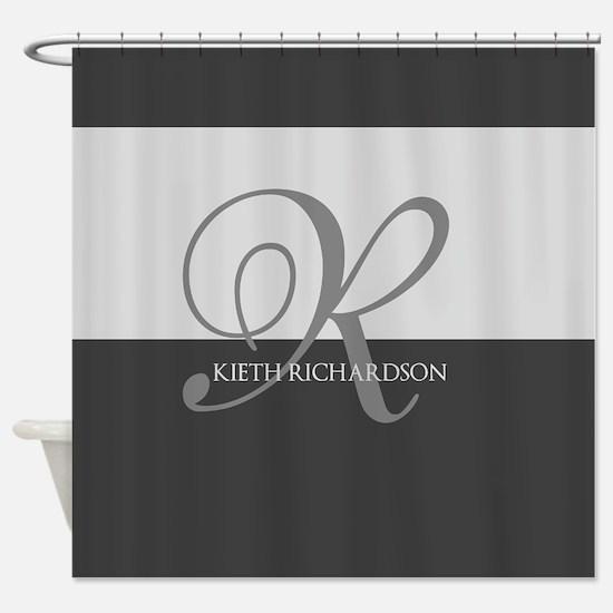 Elegant Custom Monogram Shower Curtain