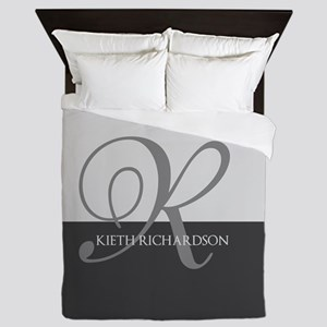 Elegant Custom Monogram Queen Duvet