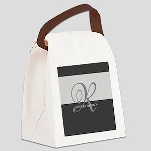 Elegant Custom Monogram Canvas Lunch Bag