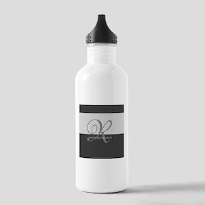 Elegant Custom Monogram Stainless Water Bottle 1.0