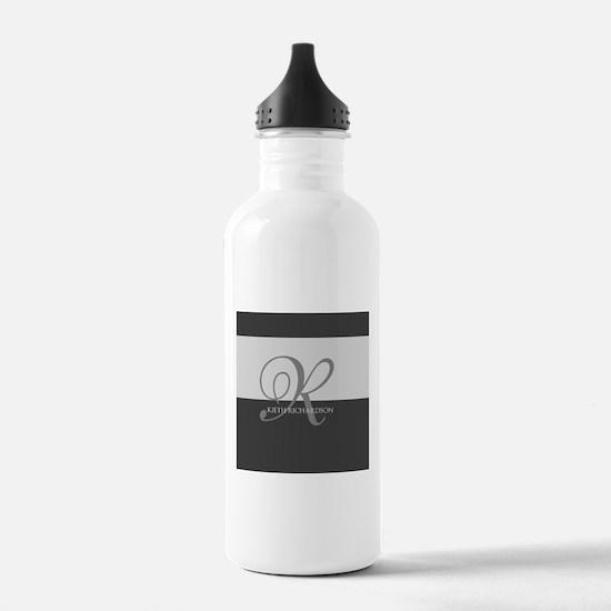 Elegant Custom Monogram Water Bottle
