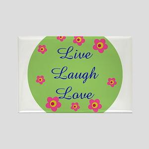 LIVE LOVE LAUGH Rectangle Magnet