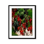 Radiance in Red Framed Panel Print