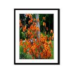 Orange Kiss Framed Panel Print