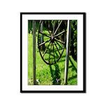 Garden Wheel Framed Panel Print