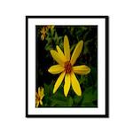 Love Me Yellow Daisy Framed Panel Print