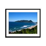 Brazilian Coastline Framed Panel Print