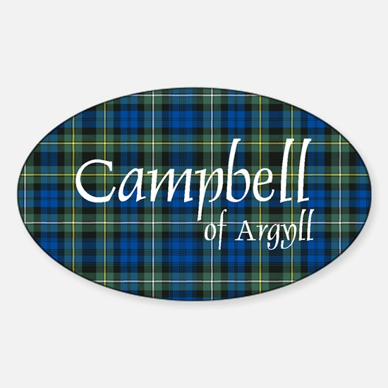 Tartan - Campbell of Argyll Sticker (Oval)