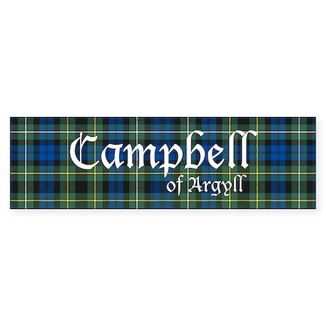 Tartan - Campbell of Argyll Sticker (Bumper)