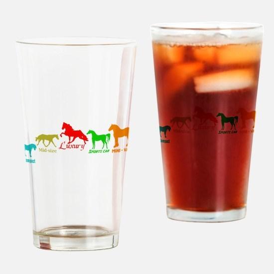 Nice Horses Drinking Glass