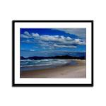 Brazilian Beach Framed Panel Print