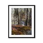 Autumn Mill Stream Framed Panel Print