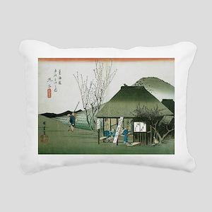 Famous Teahouse at Marik Rectangular Canvas Pillow