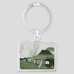 Famous Teahouse at Mariko by Hi Landscape Keychain