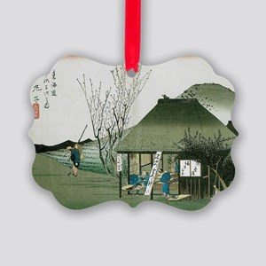 Famous Teahouse at Mariko by Hiro Picture Ornament