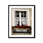 Flowerbox Window Flowers Framed Panel Print