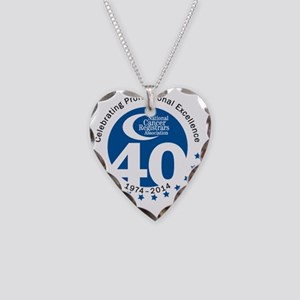 NCRA 40th Anniversary Blue  Necklace Heart Charm