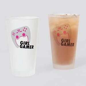 Girl Gamer Drinking Glass