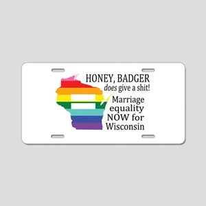 Honey Badger Cares About Equality blk font Aluminu