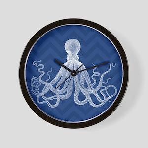 Chevron Octopus DK Wall Clock