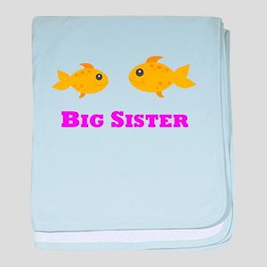 Big Sister Goldfish baby blanket