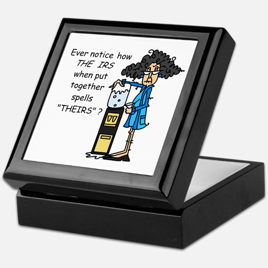 Taxes Humor Keepsake Box