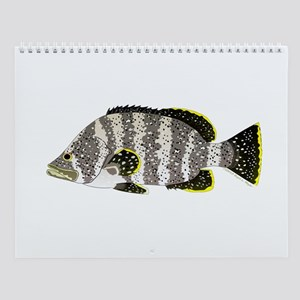 Sea Basses and a few jacks Wall Calendar