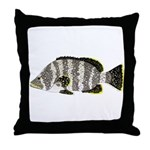 Leather Bass Throw Pillow