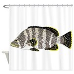 Leather Bass Shower Curtain