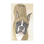 Boxer Sticker (Rectangle 50 pk)