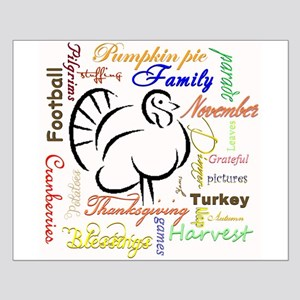 Thanksgiving words Posters