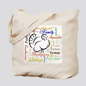 Thanksgiving words Tote Bag