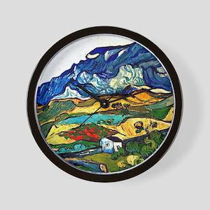 Van Gogh - Les Alpilles Mountain Landsc Wall Clock