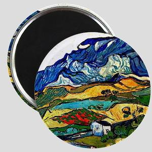 Van Gogh - Les Alpilles Mountain Landscape  Magnet